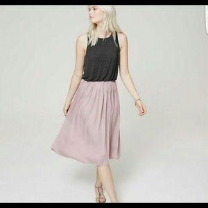 Loft Duet Midi Dress in Lilac/ Charcoal